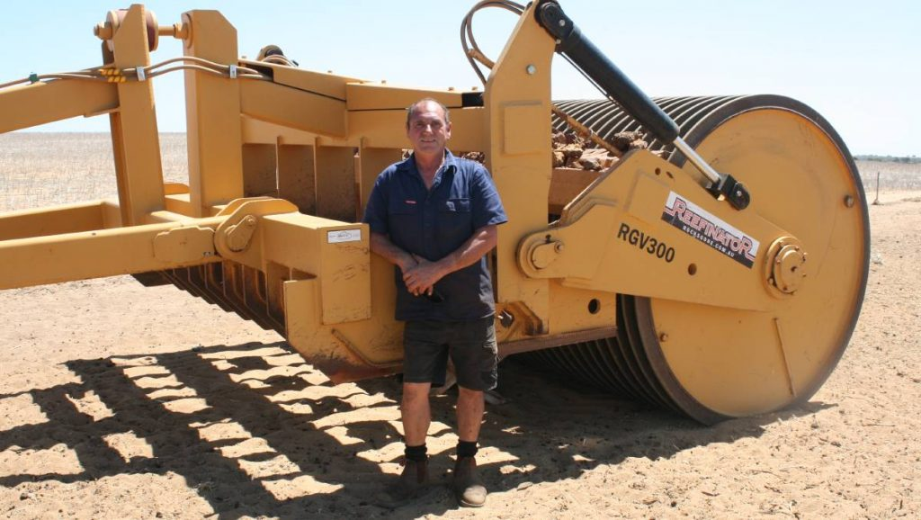 """A crushing start to the year at Yathroo Carl Moltoni has spent the past few weeks towing his Rocks Gone Reefinator across his Yathroo property. PREPARING for the 2019 season has meant crushing rocks with a Reefinator for Yathroo farmer Carl Moltoni. """"Getting into some reefinating is our next big job,"""" Mr Moltoni said. """"We purchased a reefinating machine last year after we dry hired one for a year."""" Mr Moltoni has since sold his spader with the proceeds going into purchasing the Reefinator. Unarable land that had surface rocks is not an issue anymore. Mr Moltoni said he had a lot of rock heaps that were piled up over the years and now they are spreading them out and crushing them into the soil. """"Some ridges you have to go over eight or nine times to get them crushed,"""" he said. """"It can be very time consuming. """"I tend to take as minimal rock as possible each time otherwise it's too hard on the tractor."""""""