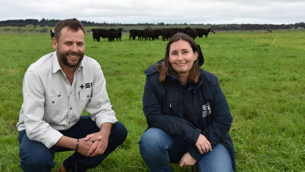 FARM FIELD DAY: Thomas Elder Institute ag tech development officer Andy Phelan and SARDI ag tech coinnovation officer Robyn Terry at the Reefinator field day held at Struan last week.