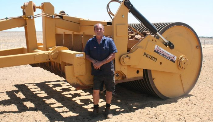 A crushing start to the year at Yathroo Carl Moltoni has spent the past few weeks towing his Rocks Gone Reefinator across his Yathroo property. PREPARING for the 2019 season has meant crushing rocks with a Reefinator for Yathroo farmer Carl Moltoni.