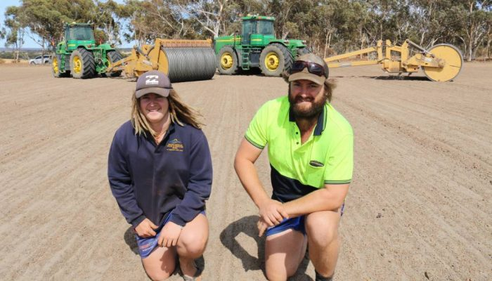 Tractor operator Jeremy Thompson (left) and Calingi farmer Ashley King survey a 'reefinated' paddock ready for seeding. IT doesn't take long for rocks to become the subject of conversation when you're speaking with most farmers. And in Western Australia, lateritic soils exist throughout most of the Wheatbelt, rendering typical ironstone country almost non-croppable, with literally thousands of rock patches or rock outcrops that farmers simply go around. Calingiri farmer Ashley King can relate, noting a ryegrass nursery on a 15 hectare patch of sheeted gravel rock that existed on his property four years ago.