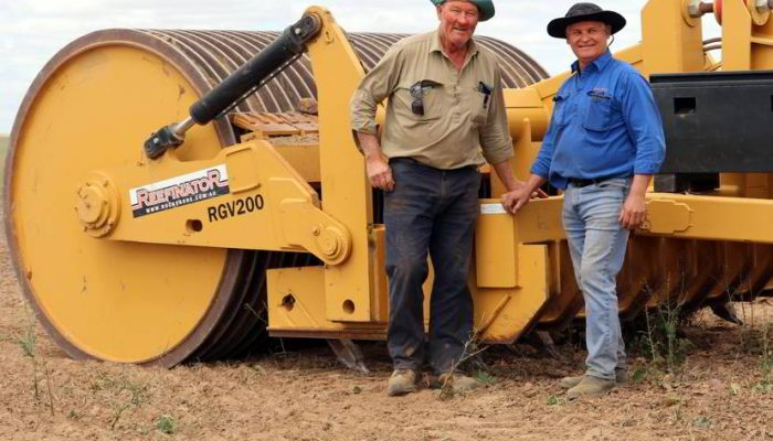 Reefinator a cut above for growth Rocks Gone founder Tim Pannell (right) and Ballidu farmer Phil Mincherton stand with a Reefinator. Credit: Lauren Calvin The burgeoning company behind the rock-crushing Reefinator machine has won the growth category of the WA Innovator of the Year Awards. Judges assessed Mr Pannell's flagstone Reefinator machine, a hybrid design between a rock ripper and a rock roller released in 2014, and has been designed to be towed behind a tractor. After travelling to look at the existing machines, Mr Pannell eventually purchased a rotary rock crusher and started a contracting business crushing rocks on farms and gravel roads for local councils. But he found the rotary crusher had its problems, so decided to develop his own concept — the Reefinator. Innovation and ICT Minister Dave Kelly congratulated Mr Pannell on his achievement. The innovation award was another feather in the cap for Mr Pannell, whose business also scooped best new release at Newdegate Farm Machinery Field Days.